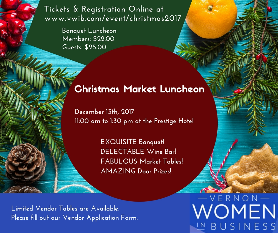 Christmas Market Luncheon @ The Prestige Hotel | Vernon | British Columbia | Canada