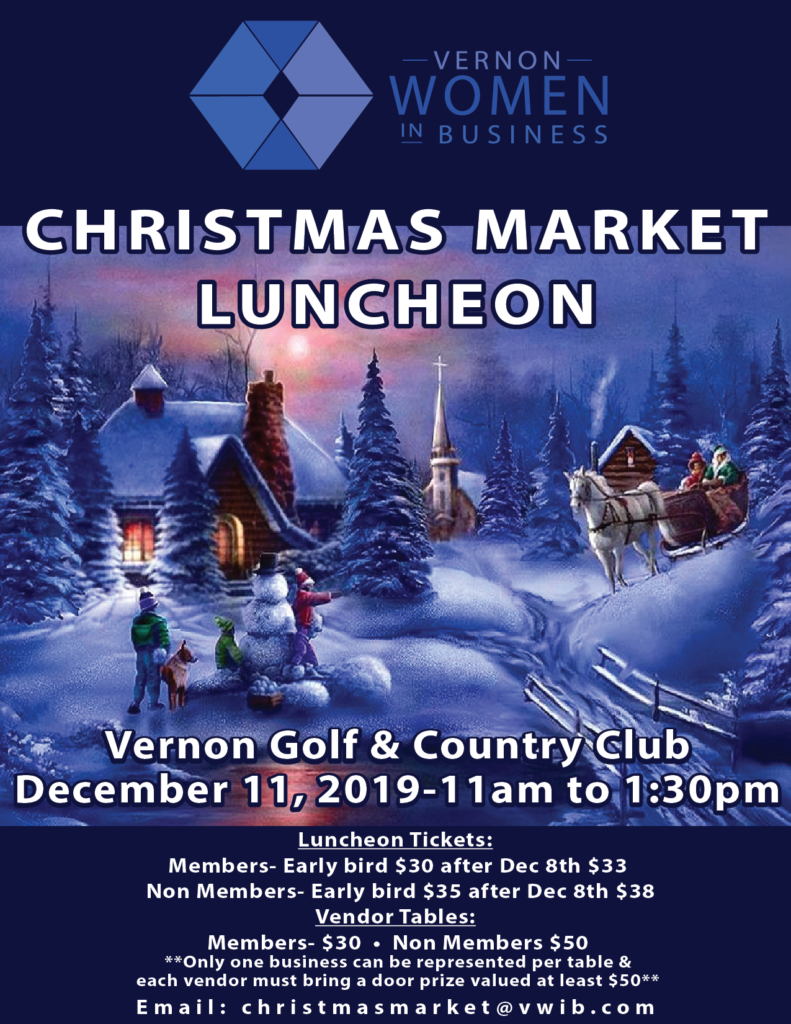 Christmas Market Luncheon 2019 @ Vernon Golf & Country Club | Vernon | British Columbia | Canada